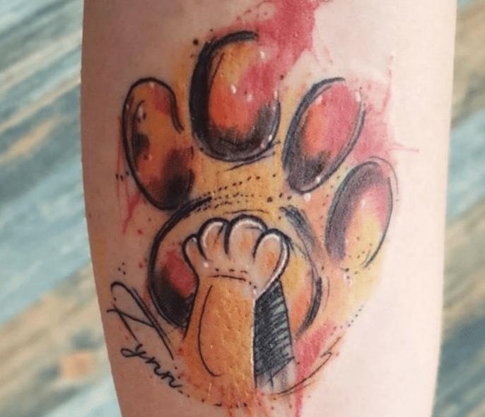 tatuagem pega de leão