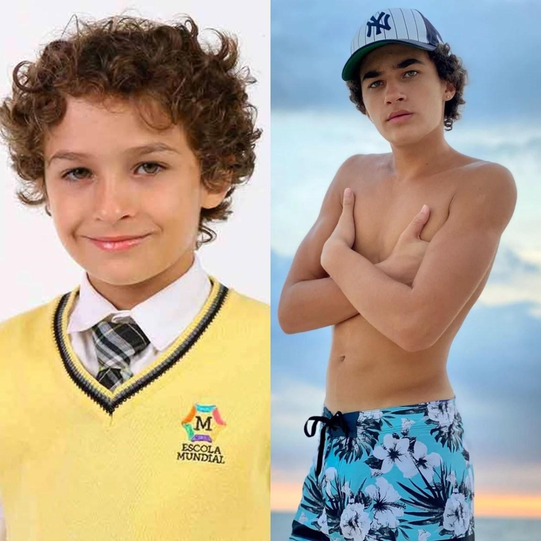 Guilherme Seta antes e depois de Carrossel.