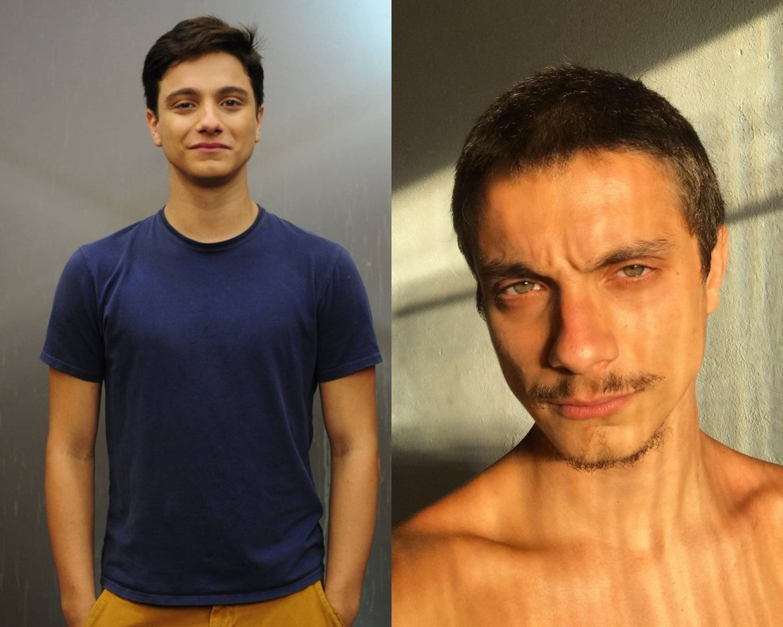 Cadu Libonati antes e depois de Malhação Sonhos.