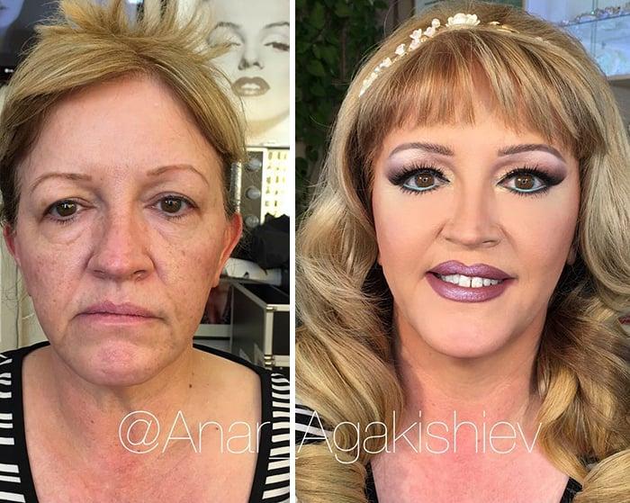 maquiagem em mulheres mais velhas