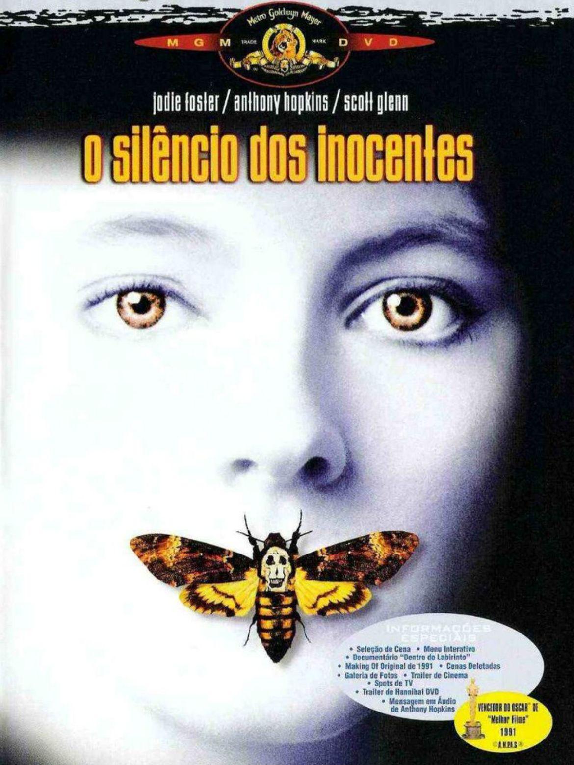 O Silêncio dos Inocentes, capa do filme.