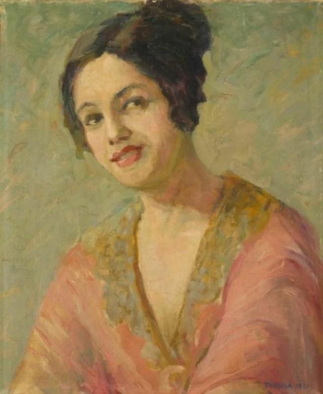 Autorretrato de Tarsila do Amaral, 1921.