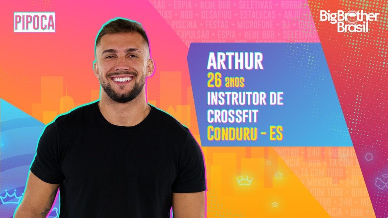 BBB21: Arthur faz parte do time Pipoca - Globo