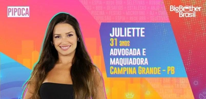 Juliette do BBB21 - Globo