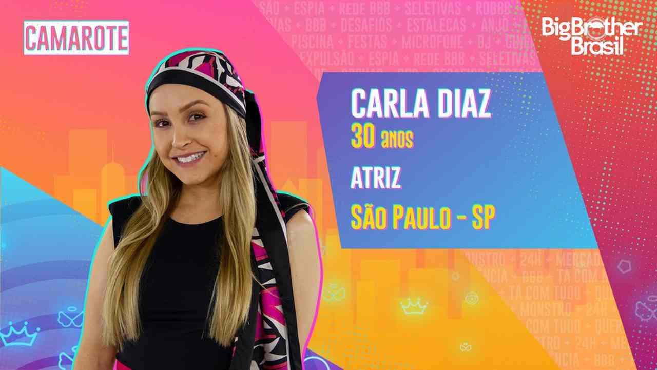 Carla Diaz está no BBB21 - Globo
