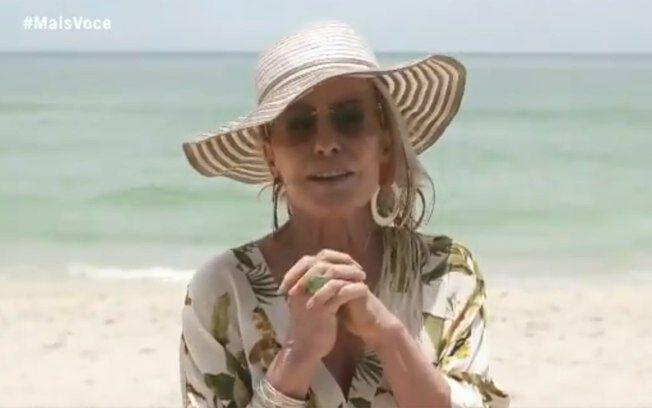 Ana Maria na praia.