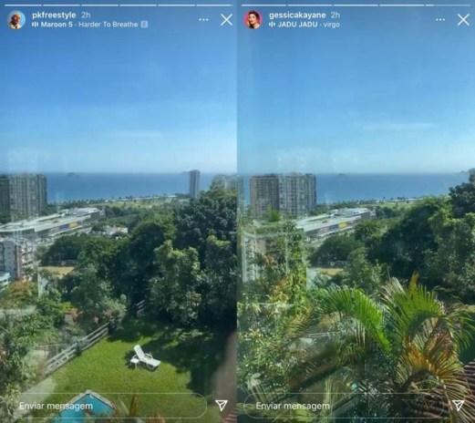 Gkay e PK postam foto no mesmo lugar e levantam suspeita de BBB21