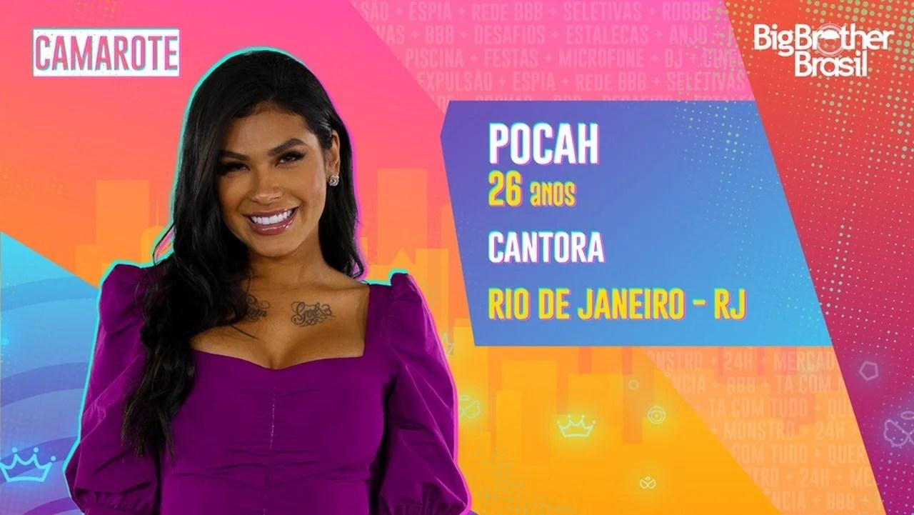 Participante do BBB21, Pocah é do time Camarote - Globo