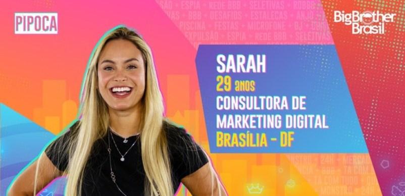 Sarah do BBB21 - Globo