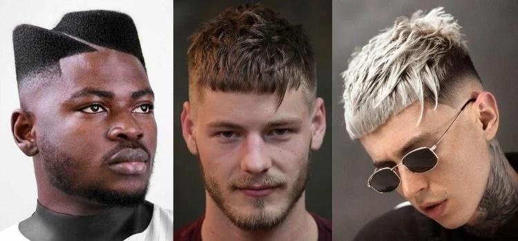 três opções de corte de cabelo masculino 2021 assimétrico