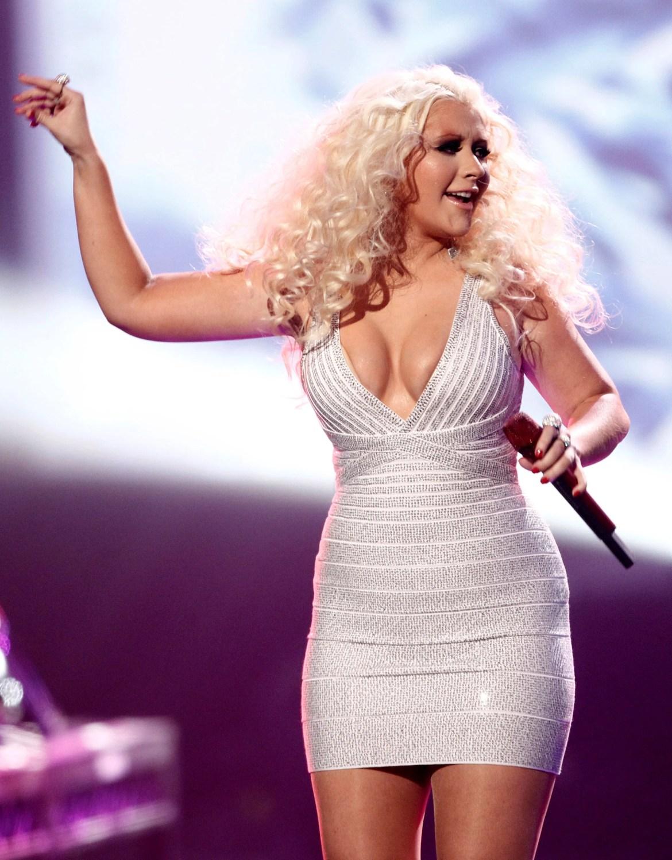 Christina Aguilera quando se sentia na necessidade de emagrecer.