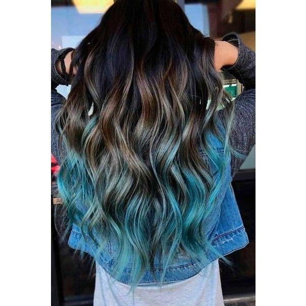 ponta de cabelo azul