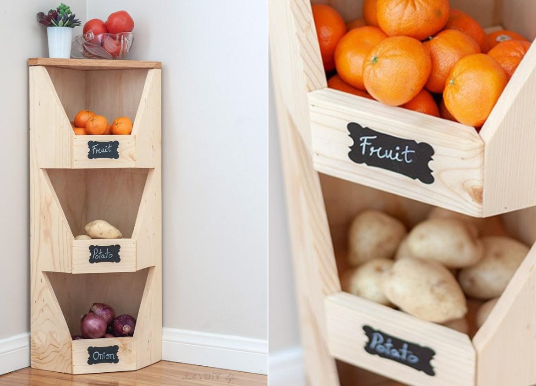 Projeto de bricolagem - Caixa para legumes e frutas