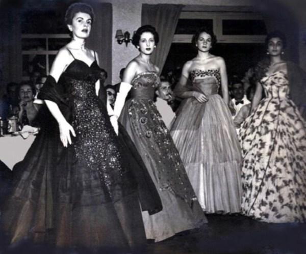 Modelos no concurso Miss Bangu.