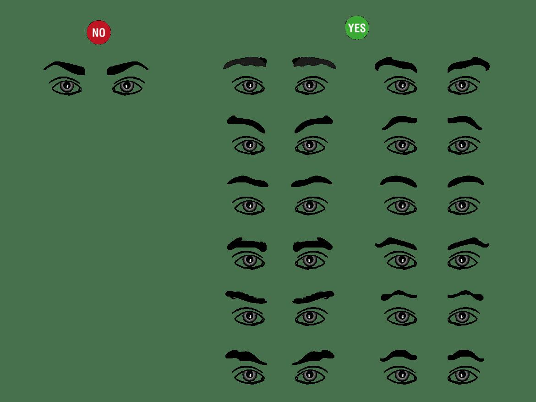 sobrancelhas masculinas moldes