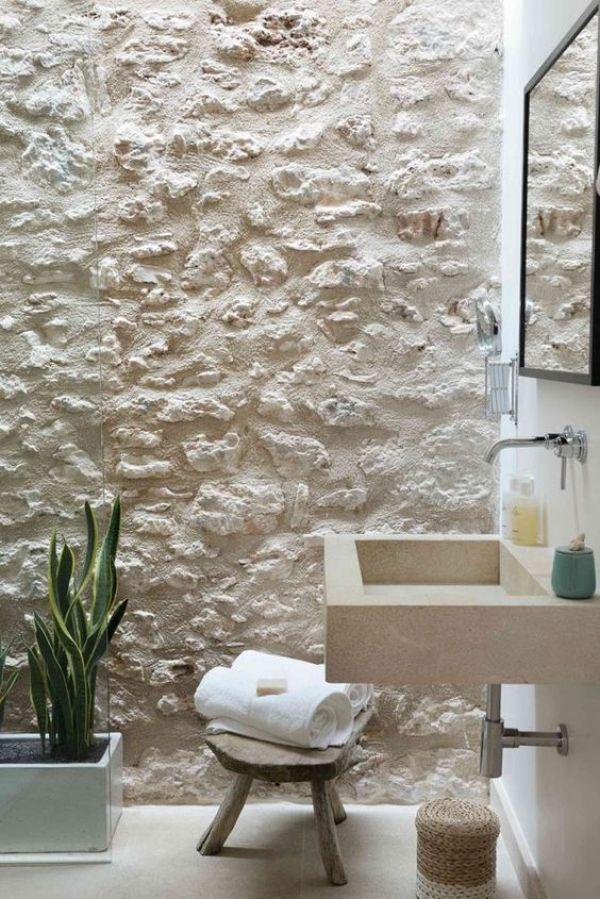 Banheiro com textura