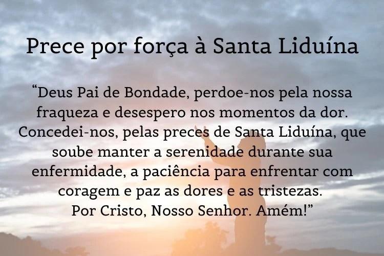 oração para saúde de Santa Liduína