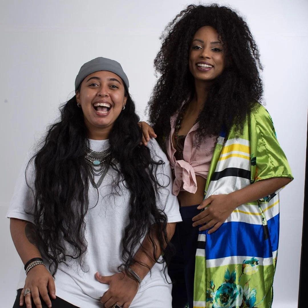 Ex-bbb Lumena e Fernanda Maia, sua namorada.