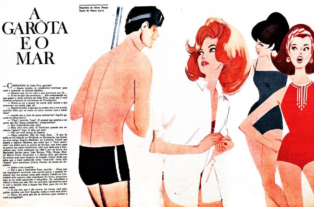Ilustração de Alceu Penna, 1964.