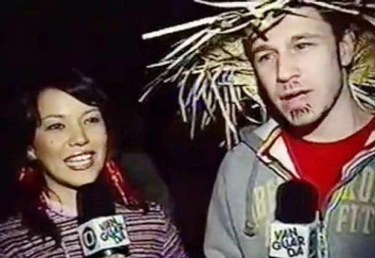 Tiago na função de repórter na TV Vanguarda - Reprodução