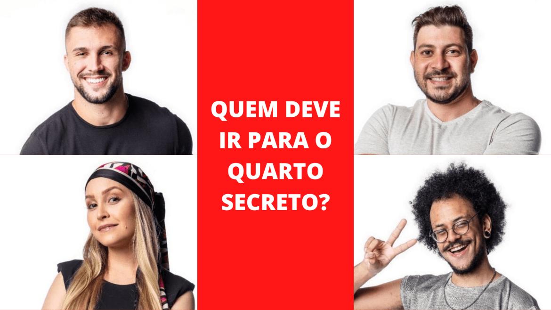 Arthur, Caio, Carla Diaz e João Luiz estão no paredão falso