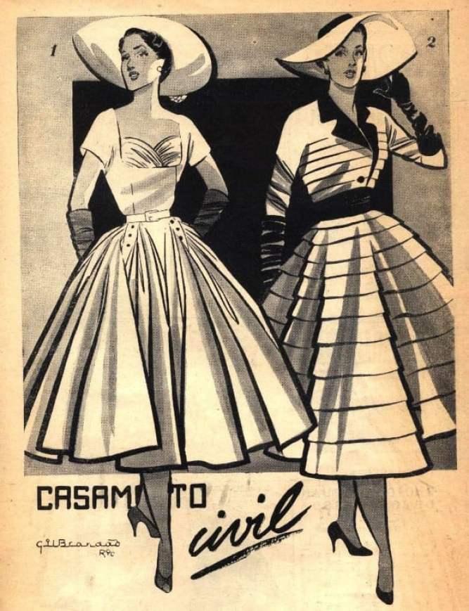 Ilustração de Gil Brandão na Revista Fon Fon, de 1952.