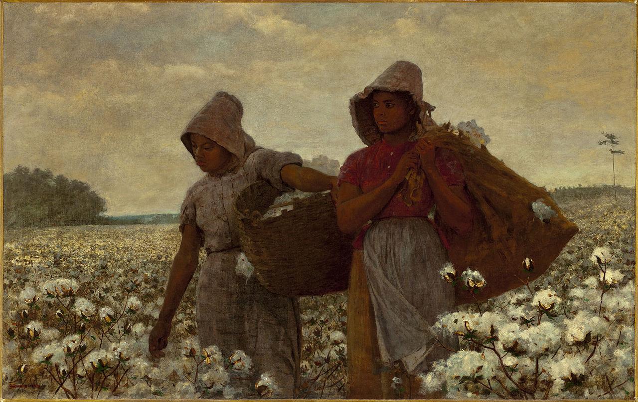 """The Cotton Pickers"", quadro de Winslow Homer de 1876."