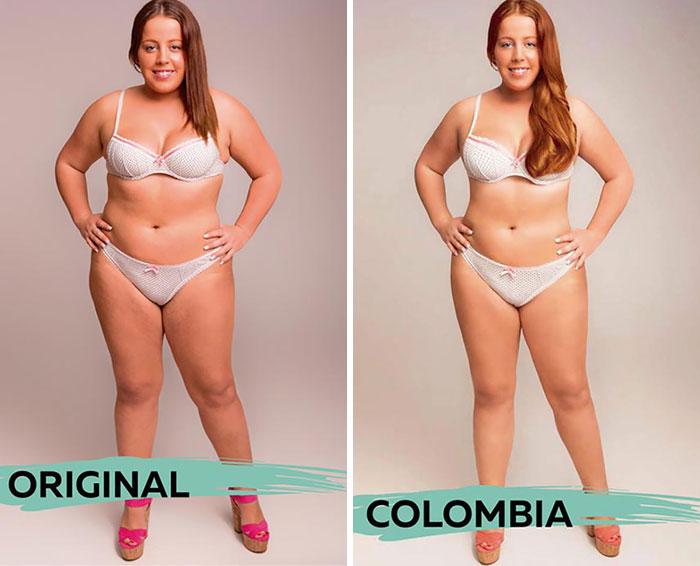 ideal de beleza na Colômbia