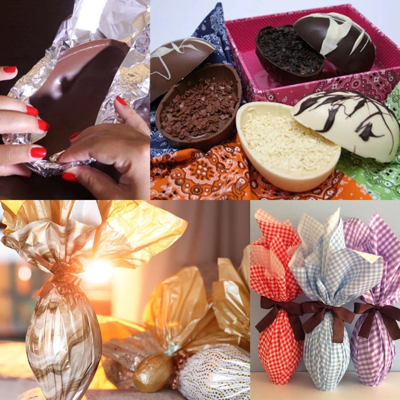 Embrulho de Ovos de Chocolate.