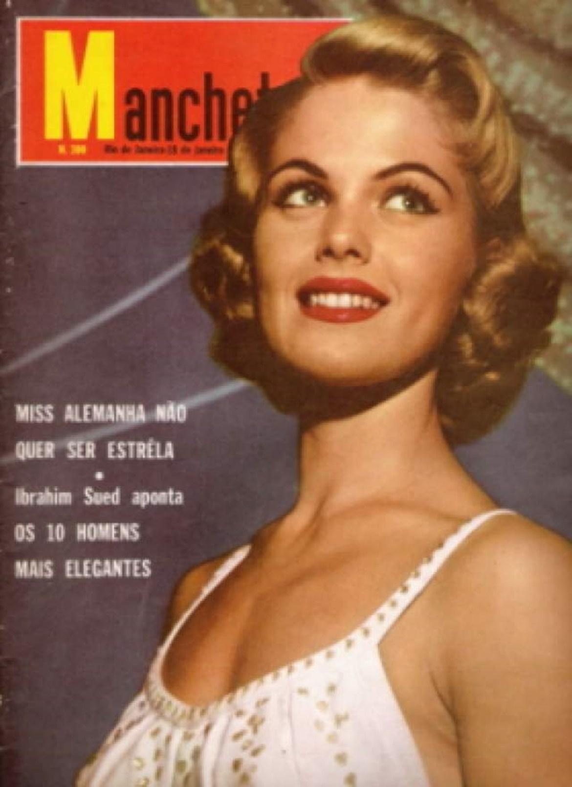 Therezinha Morango Pittigliani, capa de revista Manchete.