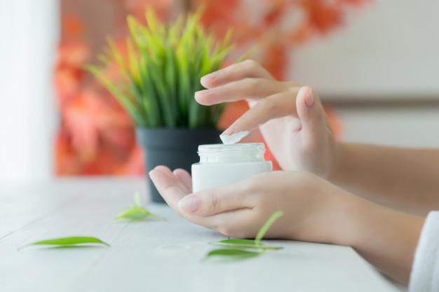 hidratante na pele