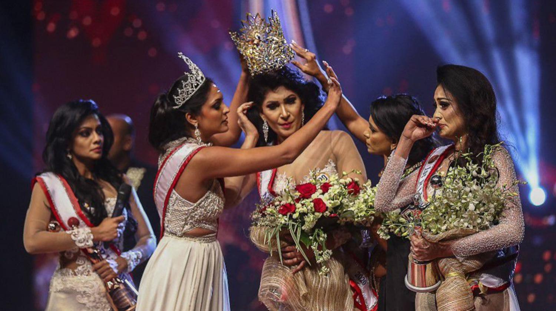Pushpika em Miss Sri Lanka.