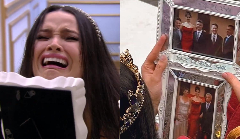 Juliette chora ao ver família em quadro.