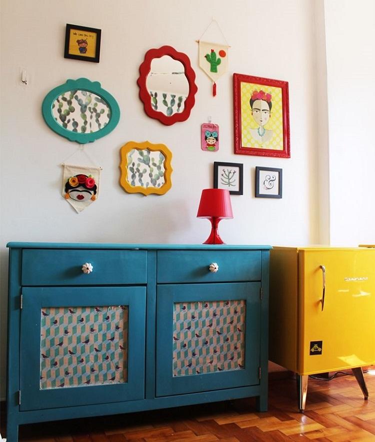 composição de quadros frida kahlo