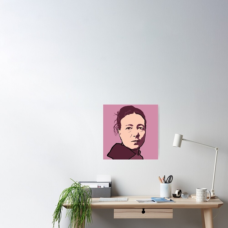poster Simone de Beauvoir