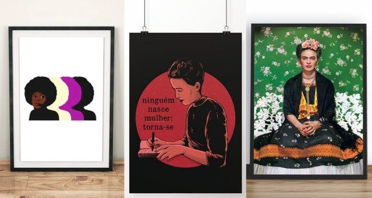 quadros para decoração feminina