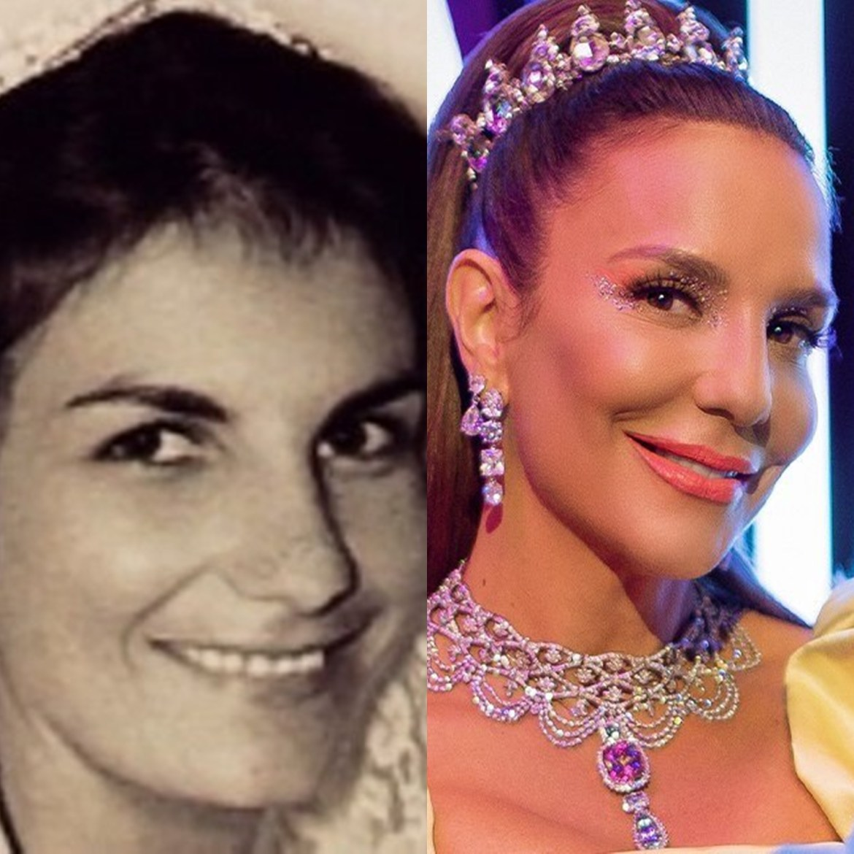 Mamãe de Ivete Sangalo mais jovem.