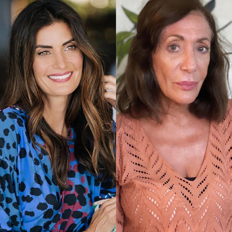 Mães de celebridades: Isabela Fiorentino e sua mãe.