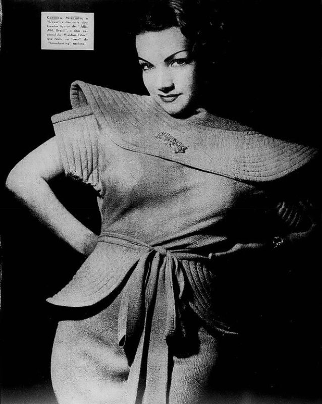 "Carmen Miranda em ""A Scena Muda"", 1935."