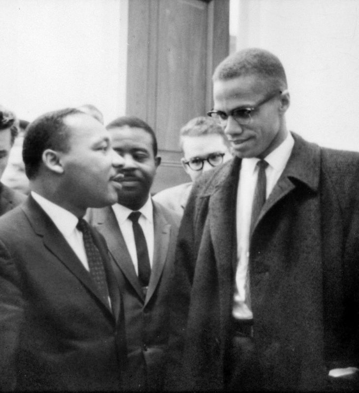 Martin Luther King, Jr. e Malcolm X, 1964.