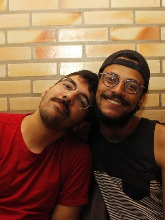 João, do BBB 21, e o namorado - Reprodução