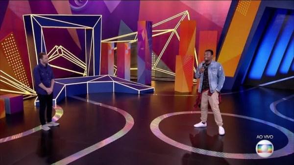 Nego Di é uma dúvida no especial do BBB 21. O humorista está sendo processado pela Globo (Imagem: reprodução/ Globo)