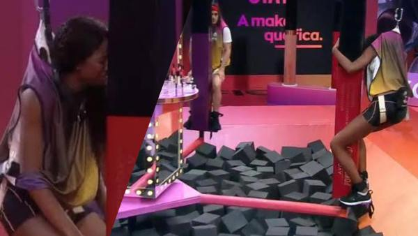 Camilla de Luccas passa mal e é consolada pelos amigos do BBB 21 (montagem: Fashion Bubbles)