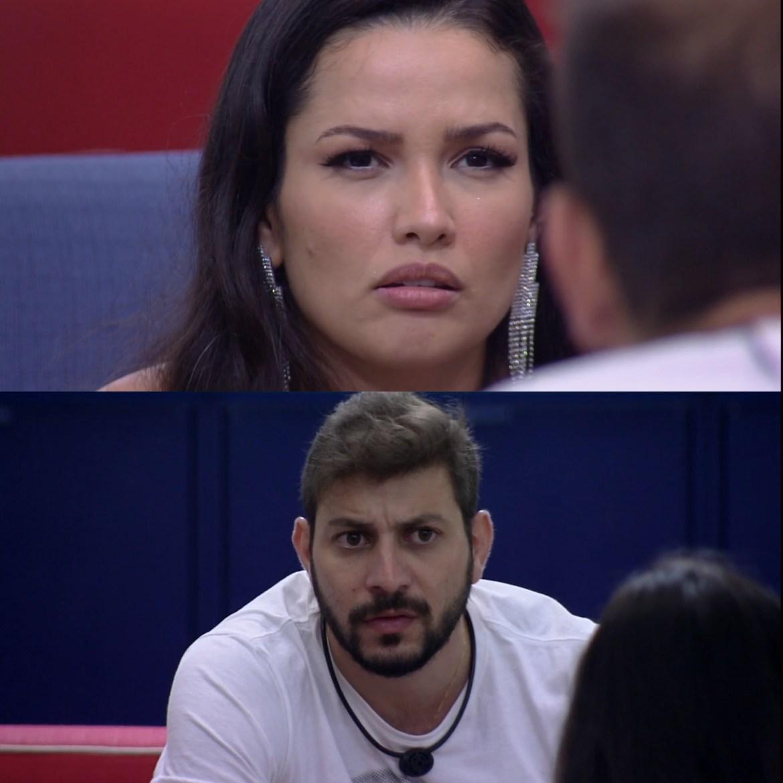 Conversa após Jogo da Discórdia - Juliette e Caio, BBB 21.