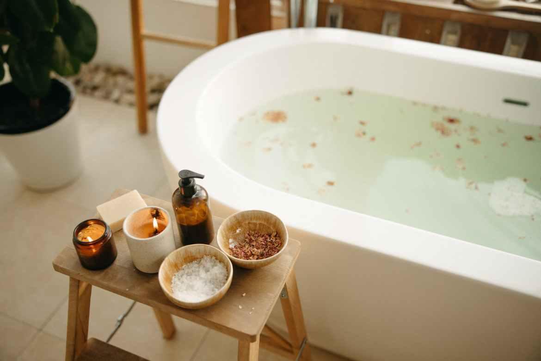 banho de cúrcuma