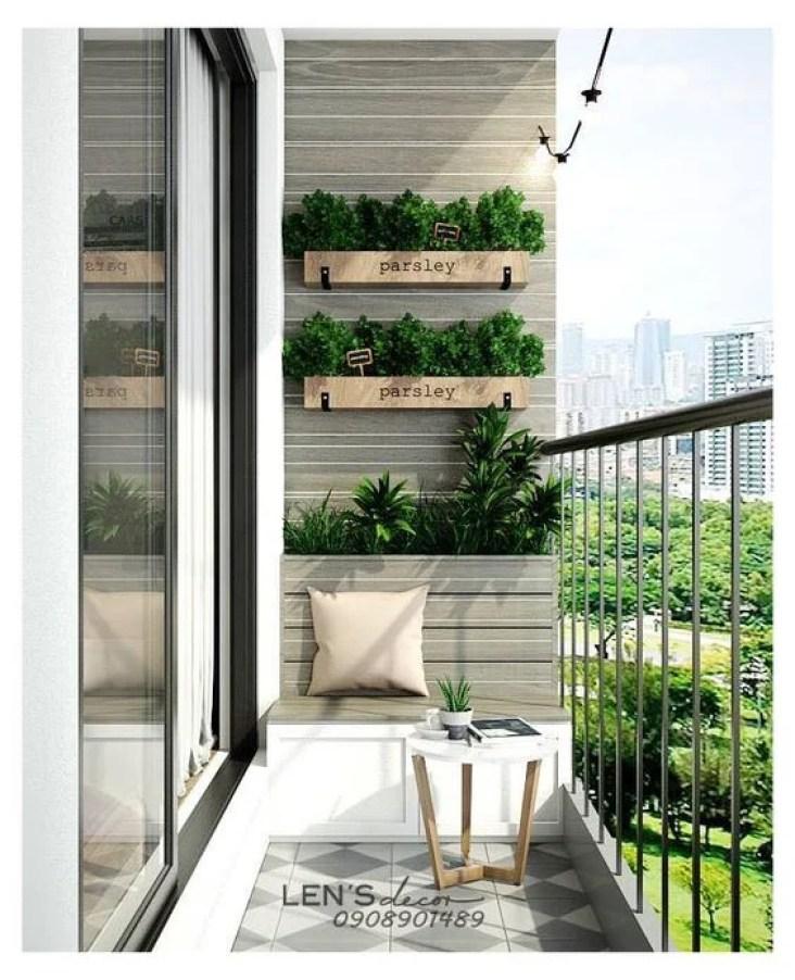 Horta na varanda.