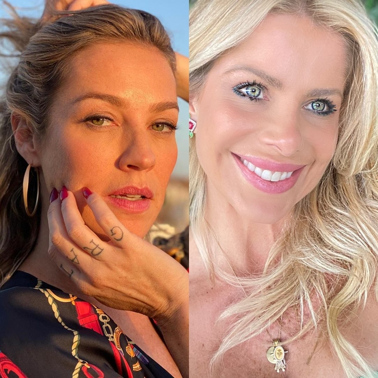 Idade das celebridades: Luana Piovani e Karina Bacchi: 44 anos.