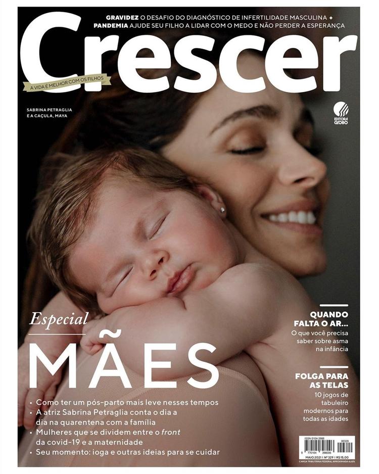 Dia das mães: Sabrina Petraglia na revista Crescer.