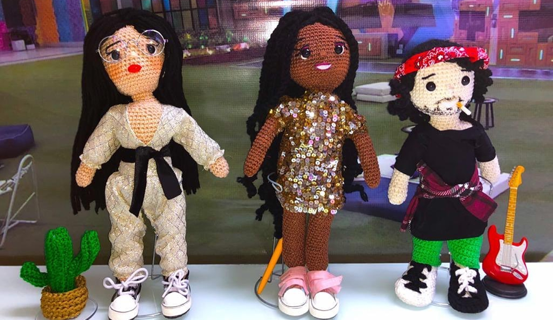 Bonecos de Juliette, Camilla de Lucas e Fiuk.