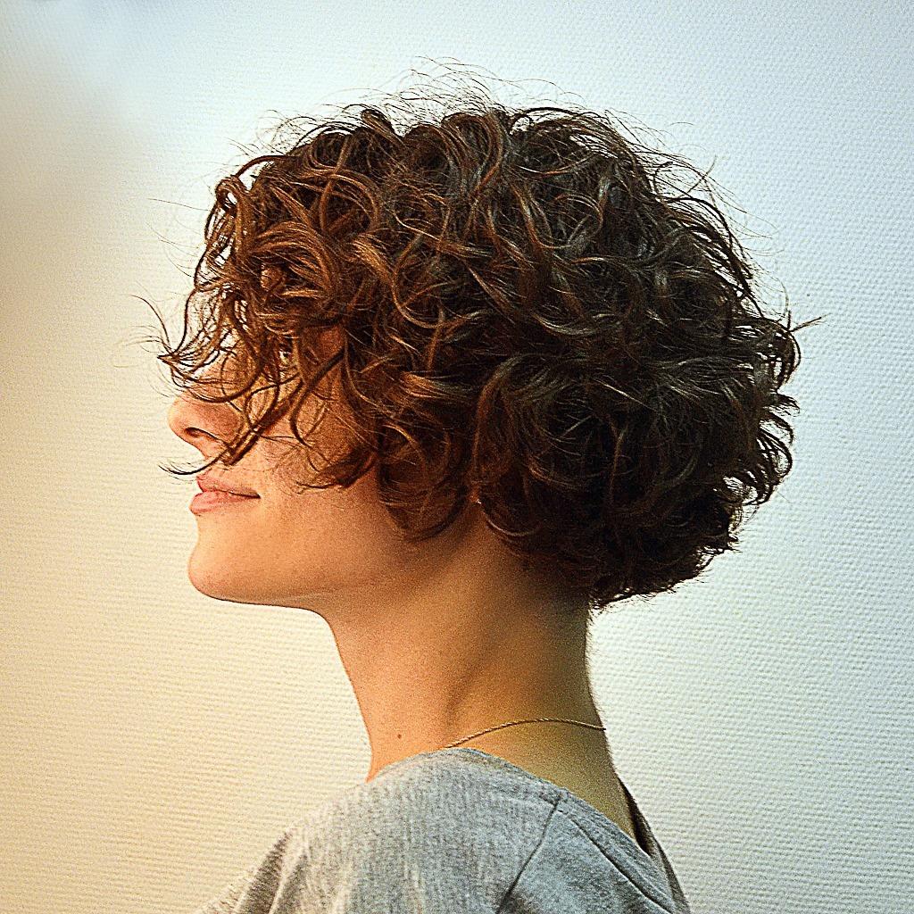cabelos cacheados curtos